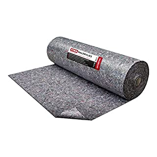 STIER Malervlies, Gewicht 180 g/m², 1m x 50m, Abdeckvlies, PE Anti Rutsch Beschichtung, Oberflächenschutz grau