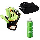 Sportskanone Gloria Kinder Fussball Set Erima Fingersave Torwarthandschuhe Trinkflasche Equipment Tasch