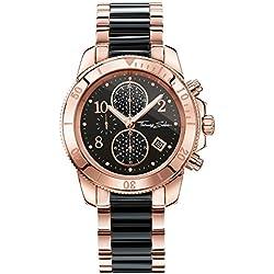"Thomas Sabo Watches, Damenuhr ""GLAM CHRONO"", Edelstahl, WA0223-268-203"