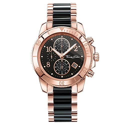 Thomas Sabo Watches, Reloj para señora 'GLAM CHRONO', Acero, WA0223-268-203