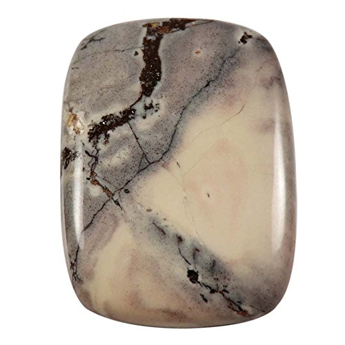 Gems&JewelsHub 51.50natur Design Porzellan Exotica Jasper Cabochon Octagon lose Edelstein (Exotica-anhänger)