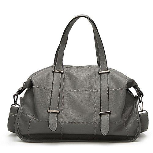 Preisvergleich Produktbild Meaeo Meine Damen Handtasche Modische Handtasche Neue Explosion Schulter Nähte, Grau