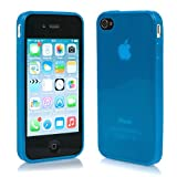Macoon Young MS1414BLU Soft Hülle hauch dünn SecondSkin für Apple iPhone 5/5S transparent/blau