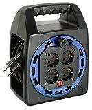 as - Schwabe 16415 Kunststoff-Kompakttrommel KBS, 15 m H05VV-F 3G1.5, IP20 Innenbereich, schwarz
