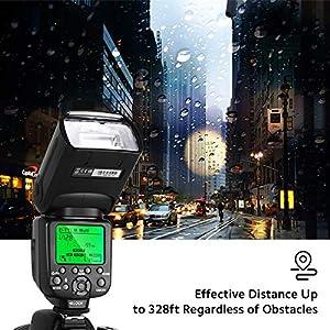 Flash-Blitz-Blitzgert-fr-Canon-Nikon-DSLR-Kameras-RALENO-Auto-Focus-Flash-Speedlite-Wechseln-Sie-Frei-Zwischen-E-TTL-und-i-TTL-mit-LCD-Bildschirm-Kit-Hart-Soft-Diffusor-Objektivdeckelhalter