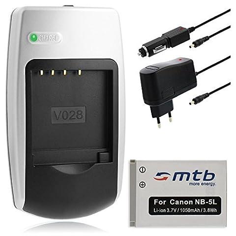Chargeur + Batterie NB-5L pour Canon Ixus .. / PowerShot.. / IXY Digital.. (voir description)