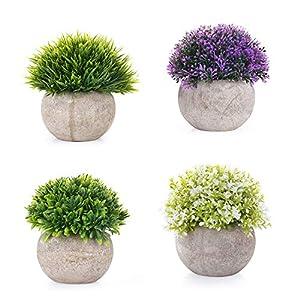 EKKONG Plantas Artificiales Suculentas Plásticas Flor pequeñas en Maceta para decoración del hogar o la Oficina…