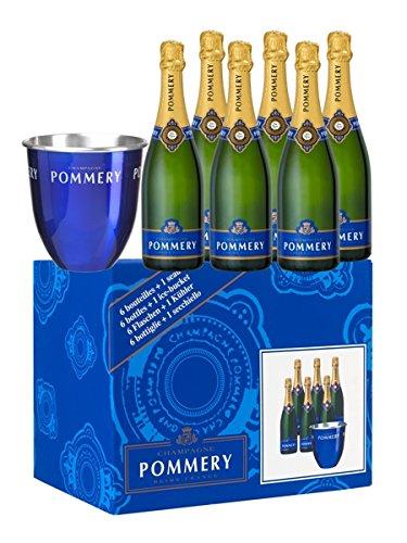 Pommery Champagner Royal Brut + 1 Kühler 12,5% 6-0,75l Flasche