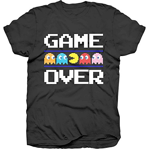 Men's Pac-Man Game Over T-Shirt, Black - S to XXL