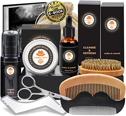 Kit de Barbe Homme Complet Coffret Barbe avec Shampoing...