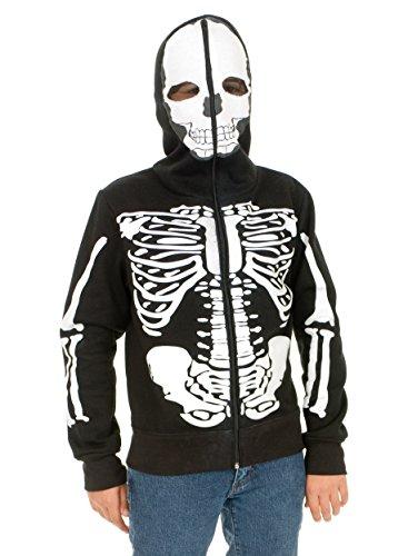 Charades Kost-me 181855 Skeleton SweatshirtHoodie Kinderkost-m Gr--e: S (6-8)