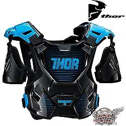Thor Motocross Peto Guardian Negro Azul Blanco Rojo Naranja MX Protector Protección Offroad M L XL 2X L