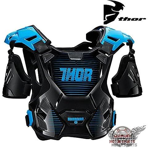 Thor Niños Motocross Peto Guardian Negro Blanco Azul Rojo Naranja MX Protector Protección Offroad