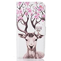 Huawei P9 Lite case [With Tempered Glass Screen Protector],Grandoin Retro Leather Folio Bumper Case ,Excellent Quality Colorful Elegante Pattern Design Premium PU Closure Exact Fit Strap Leather Wallet Protective Flip Case Cover for Huawei P9 Lite with [Credit Card Slots] Stand Holder Function(Dear)