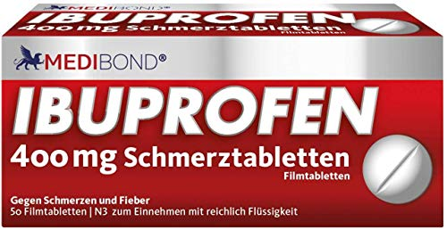 Ibuprofen Medibond 400mg Schmerztabletten 50 Stück