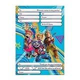 """ZingZillas Party Invitation Pad, 20 invites with envelopes [Toy]"""