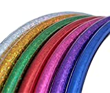 Hoopomania Hula Hoop, Glitter Farben Kinder Reifen, Violett, 70 cm