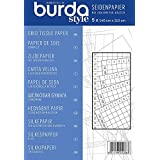 Burda - Papier de soie quadrillé - 5 feuilles - 150 x 110 cm