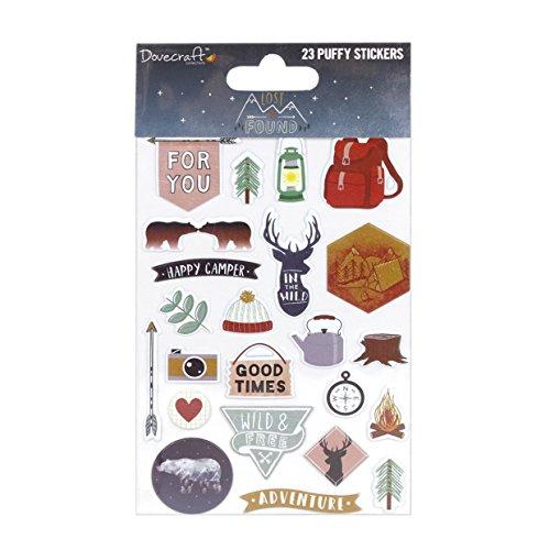 Unbekannt Dovecraft Lost and Found 'Puffy Sticker, Mehrfarbig, 22x 12,5x 1cm