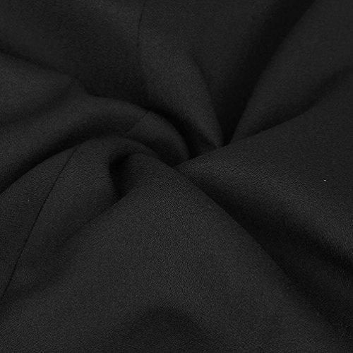 Robe, Tonsee Femmes Mode Noir Jupe patineuse Avec Bretelles Robe plissée Noir