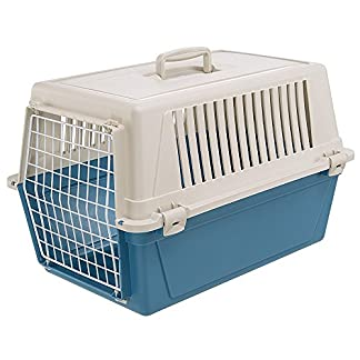 ferplast atlas 30 el cat and dog carrier, 60 x 40 x 38 cm, blue Ferplast Atlas 30 El Cat and Dog Carrier, 60 x 40 x 38 cm, Blue 51q5GALv LL