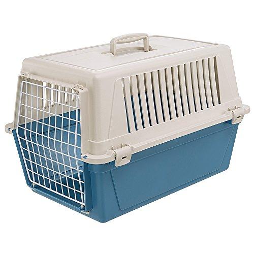 Ferplast Transportbox Atlas 30 für Hunde und Katzen bis zu 15 kg - Stabile Tragebox in Blau mit...