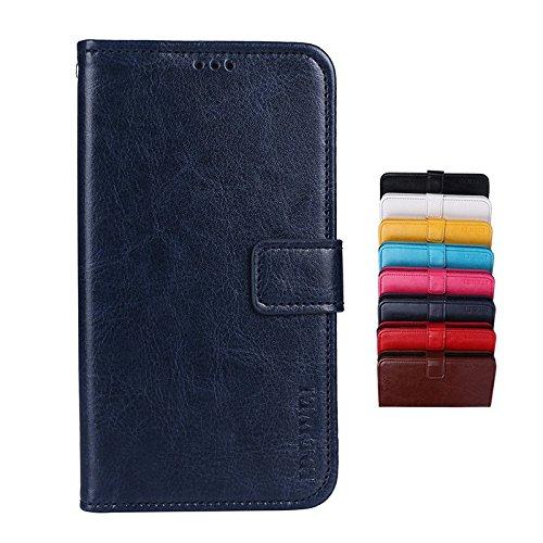 SHIEID® LG Q Stylus Brieftasche Hülle PU+TPU Kunstleder Handyfall für LG Q Stylus mit Stand Funktion EIN Stent-Funktion (Dunkelblau)