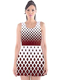 d319cbe98533 CowCow Womens Diamond Kite Rhombus Scoop Neck Skater Dress