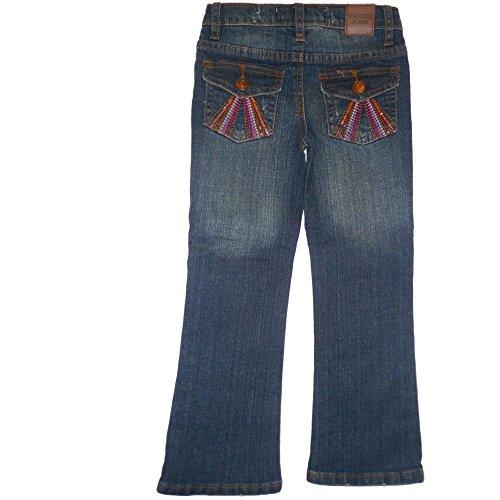 Vigoss Jeans Stretch Boot Cut Flair Denim Hose Rain Wash Mädchen 110 -