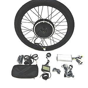"48V1000W Hub Motor Ebike Kit Conversione Bici Elettrica + Tire + LCD Display Theebikemotor (Rear Wheel + 7 Speed Gear, 26"")"