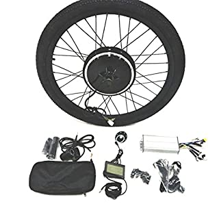 48V1500W Hub Motor lektro-Fahrrad Umbausatz Electric Bike Conversion Kit + LCD+ Tire Theebikemotor (Front Wheel, 20