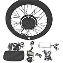 "48V1000W Hub Motor Ebike Bicicleta ELÉCTRICA KIT DE CONVERSIÓN + Tire + LCD Display Theebikemotor (Rear Wheel + 7 Speed Gear, 26"")"