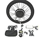 48V1200W Hub Motor lektro-Fahrrad Umbausatz Electric Bike Conversion Kit + LCD+ Tire Theebikemotor (Rear Wheel, 28