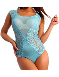 Damen Body aus Spitze und Mesh Bodysuit