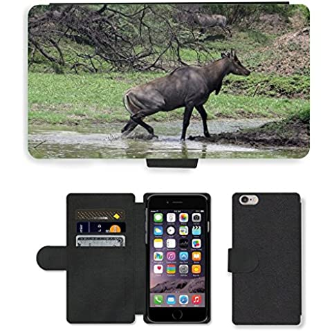 Just telefono, cellulare, carte, Custodia a portafoglio in pelle PU, motivo naturale Antelope/M00138610 Nilgai Apple iPhone 6 PLUS 13,97 (5,5 cm