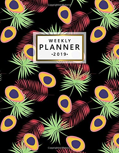 Weekly Planner 2019: Tropical avocado and leaves planner with weekly views with to-do lists, inspirational quotes and more. The perfect organizer to make 2019 a success. por Simple Planners