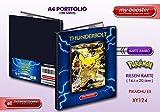 Portfolio Pokemon Pikachu Ex Full Art XY124 130HP XY11 - 180 Karten einzuordnen - Format A4 Album Binder