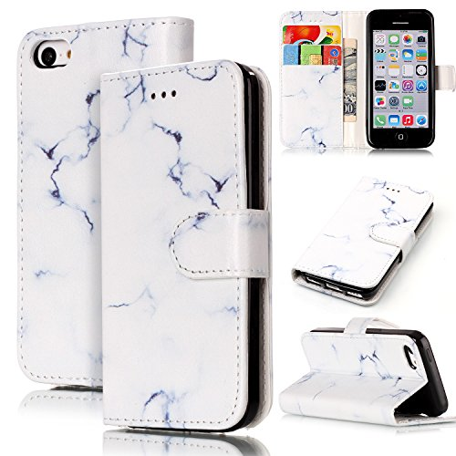 Wallet Case für iPhone SE, iPhone 5, iPhone 5S, Sunroyal Bookstyle Standfunktion Kreditkartenfach Brieftasche Hülle PU Lederhülle mit TPU Silicone Shell Magnetverschluss Card Holder Etui für iPhone SE Pattern 18