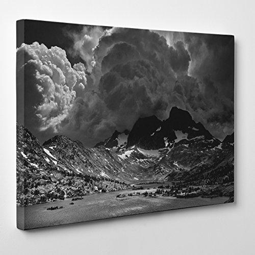 Bild auf Leinwand Canvas-Gerahmt-fertig zum Aufhängen-Ansel Adams-Kunst-Geschichte der Fotografie Weiß und Schwarz Dimensione: 70x100cm A - Senza Cornice -