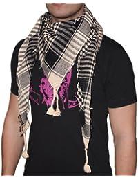 niki-orange® Pali Schal, Tuch, Palästinenserschal, Arafat, in Beige/Schwarz