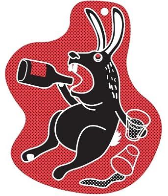 """MollaSpace """"Während sie nicht Home"""" Reflektor Schlüsselanhänger, Drunk Kaninchen"""