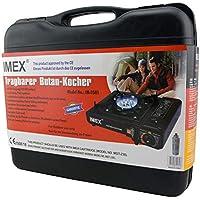 IMEX Hornillo de Gas Gas maletín único, con Parrilla y Cartuchos de Gas