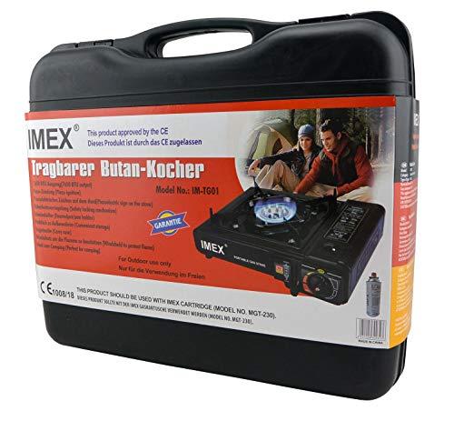 IMEX Camping Gaskocher Set Butan-Kocher im Tragekoffer