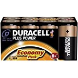 Duracell MN1300 Plus Power Alkaline D Size Batteries (Pack of 8)
