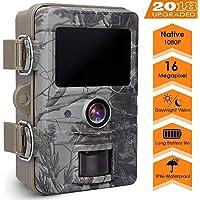 """AGM Wildkamera 16MP 1080P Full HD Jagdkamera mit 2.4"""" LCD Display Design, 20m Nachtsicht Überwachungskamera,IP66 Wasserdichte für Outdoor-Natur, Garten, Haussicherheitsüberwachung"""