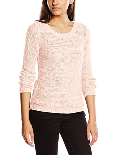 Only Onlgeena XO L/S Pullover Knt Noos - Felpa Donna Rosa (Peach Whip)