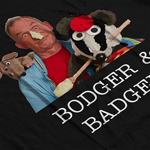 Bodger And Badger And Mousey Montage Men's Vest Black