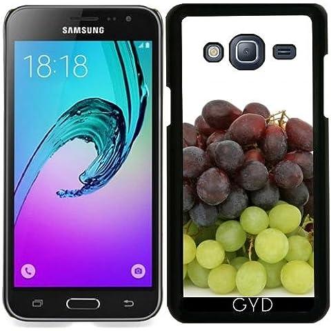 Custodia per Samsung Galaxy J3 2016 (SM-J320) - Uva Frutta Verde Affamato by WonderfulDreamPicture
