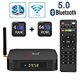 Android 9.0 TV Box, Greatlizard TX6 TV Box 4GB RAM 64GB ROM BT5.0 Dual WiFi 2.4G+5G Quad Core 4K 6K 3D HD Smart TV Box