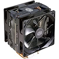 Cooler Master Hyper 212 LED Turbo Black Cover Ventola per CPU '4 Heatpipes, 2x Ventola da 120mm PWM, LED Rossi' RR-212TK-16PR-R1
